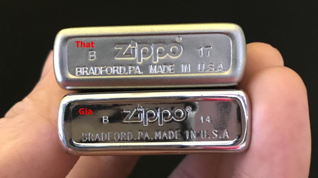 Ký tự mộc đáy giúp phân biệt zippo xịn
